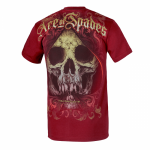 T-shirt PIT BULL WEST COAST Ace Of Spades burgundy