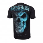 T-shirt PIT BULL WEST COAST Blue Skull czarna