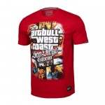 T-shirt PIT BULL WEST COAST Most Wanted czerwona