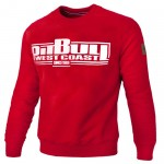 Bluza PIT BULL WEST COAST Classic Boxing18 red
