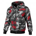Kurtka PIT BULL WEST COAST Athletic VII camo black/red