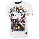T-shirt PIT BULL WEST COAST Most Wanted white