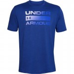 T-SHIRT UNDER ARMOUR TEAM ISSUE WORDMARK SS niebieska
