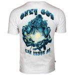 T-shirt OMERTA Only God Can Judge Me biały