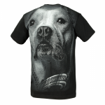 T-shirt PIT BULL WEST COAST California Dog black