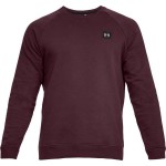 Bluza UNDER ARMOUR Rival Solid Fleece Crew bordo-600
