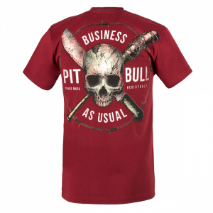 T-shirt PIT BULL WEST COAST Business Us Usual burgundy