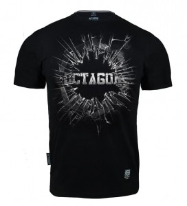 T-shirt OCTAGON Crushed Logo black
