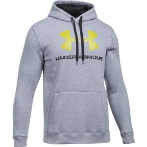 Bluza z kapturem UNDER ARMOUR Rival Fitted Graphic grey-025