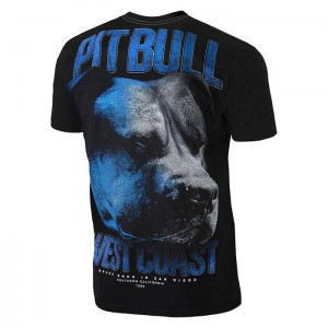 T-shirt PIT BULL WEST COAST Go Hard black