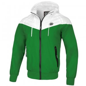 Kurtka PIT BULL WEST COAST DIVISION HOODED GREEN/WHITE