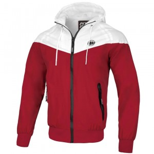Kurtka PIT BULL WEST COAST DIVISION HOODED RED/WHITE