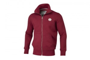 Bluza rozpinana PIT BULL WEST COAST Small Logo BURGUNDY