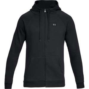 Bluza rozpinana z kapturem UNDER ARMOUR Rival Fleece FZ Hoodie czarny-001