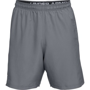 Spodenki UNDER ARMOUR Woven Graphic Wordmark szary-513