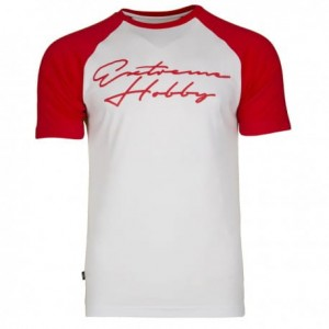 T-shirt EXTREME HOBBY Rapid Signature white/red