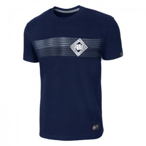 T-shirt PIT BULL WEST COAST Rhombus navy