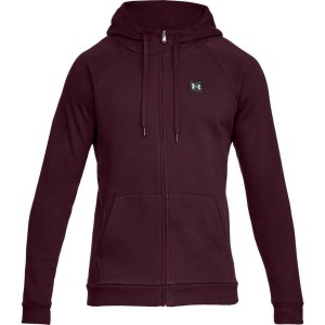 Bluza rozpinana z kapturem UNDER ARMOUR Rival Fleece FZ Hoodie bordo-600