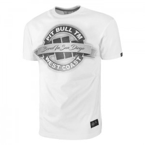 T-shirt PIT BULL WEST COAST Baner white