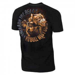 T-shirt PIT BULL WEST COAST Unleash The Beast black