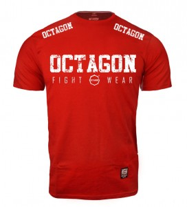 T-shirt OCTAGON Fight Wear 2018 czerwony