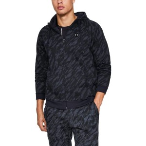 Bluza rozpinana z kapturem UNDER ARMOUR Rival Fleece Camo FZ Hoodie czarna