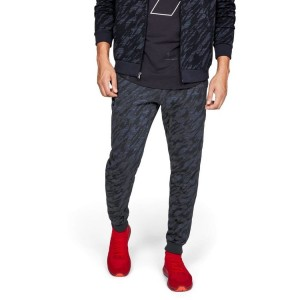Spodnie UNDER ARMOUR Rival Fleece Camo Jogger czarne-001