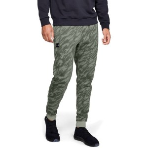 Spodnie UNDER ARMOUR Rival Fleece Camo Jogger zielone-492