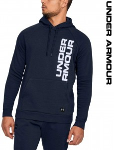 Bluza z kapturem UNDER ARMOUR Rival Fleece Script Hoody navy-408