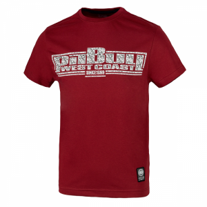 T-shirt PIT BULL WEST COAST Skull Boxing burgundy