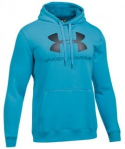 Bluza z kapturem UNDER ARMOUR Rival Fitted Graphic niebieski-929