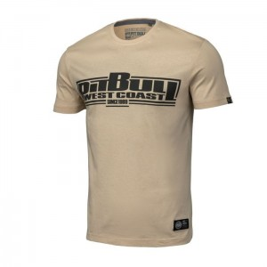 T-shirt PIT BULL WEST COAST Classic Boxing piaskowy