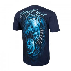 T-shirt PIT BULL WEST COAST Blue Eyed Devil 19 granat