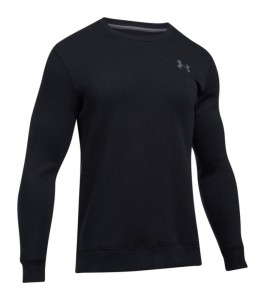 Bluza UNDER ARMOUR Rival Solid Fitted Crew black-001
