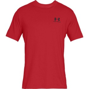 T-shirt UNDER ARMOUR Sportstyle Left Chest SS czerwony -600