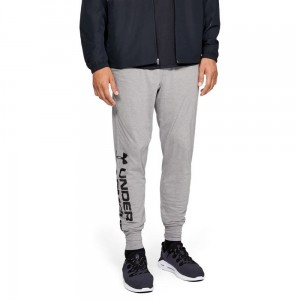 Spodnie UNDER ARMOUR Sportstyle cotton graphic jogger szare -035