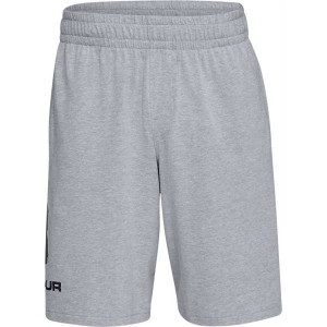 Spodenki UNDER ARMOUR Sportstyle Cotton Logo short szare -035