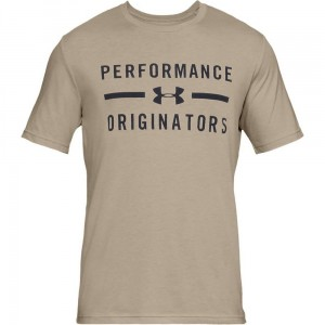 T-shirt UNDER ARMOUR UA Performance Originators SS brąz -290