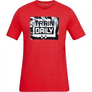 T-shirt UNDER ARMOUR UA MFO Train Daily SS czerwony -633