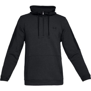 Bluza z kapturem UNDER ARMOUR Threadborne Fleece 1/2 Zip czarny -001