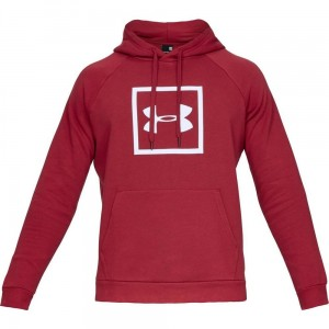 Bluza z kapturem UNDER ARMOUR Rival Fleece Logo Hoodie czerwona -651