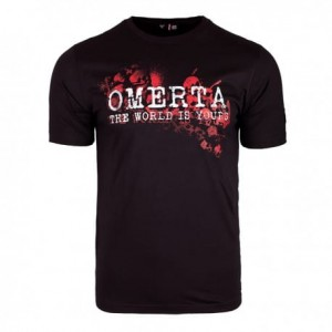 T-shirt OMERTA The World Is Yours czarny
