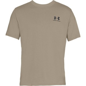T-shirt UNDER ARMOUR Sportstyle Left Chest SS beżowy-299