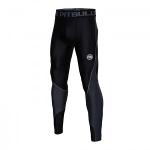 Leginsy Pit Bull West Coast Compression Pro plus czarne