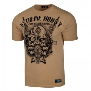 T-shirt EXTREME HOBBY Death Before Dishonor beżowy
