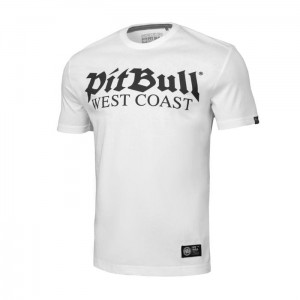 T-shirt PIT BULL WEST COAST Old Logo biały