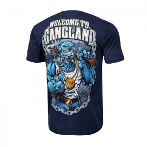 T-shirt PIT BULL WEST COAST Welcome To Gangland granatowa