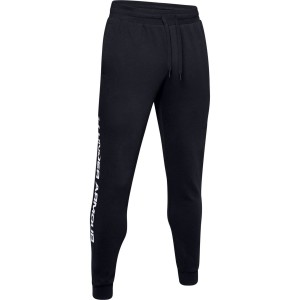 Spodnie UNDER ARMOUR Rival Fleece Wordmark Logo Jogger czarne -001