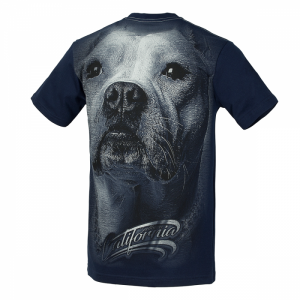 T-shirt PIT BULL WEST COAST California Dog dark navy
