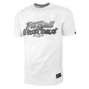 T-shirt PIT BULL WEST COAST PB SD white